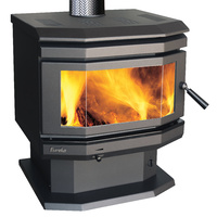Eureka Emerald Bay Window Freestanding Wood Heater