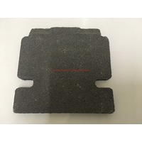 Fire Brick 260mm x 250mm x 25mm Masport Side