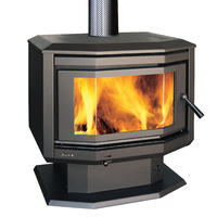 Jindara Pyrenees Outback Freestanding Wood Heater Bay Window
