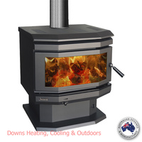 Jindara Sorrento Outback Freestanding Wood Heater Bay Window