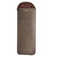 Cotton Canvas Jumbo Hooded Sleeping Bag - Oztrail