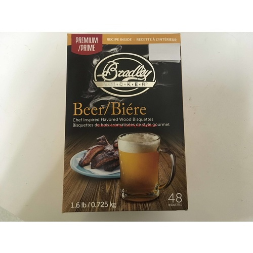 Bradley Premium Smoker Bisquettes 48 Pack Beer