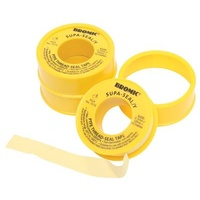 PTFE Thread Seal Tape, Gas Yellow 12mm x 10m x 0.1mm Roll