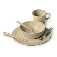 Dinner Set - Cream Bamboo 1 Person