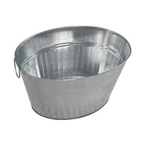 Galvanised Oval Party Tub 33 Litre